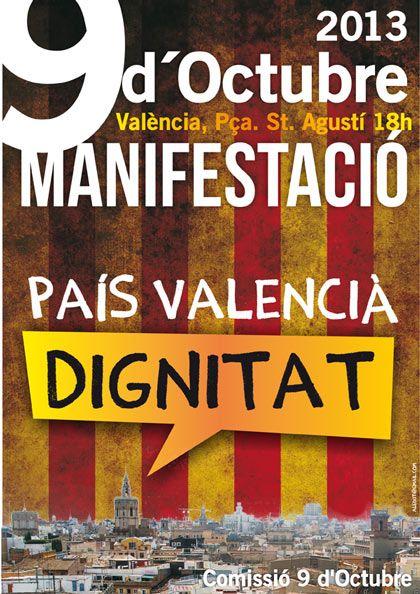 Cartell Manifestació 9 d'Octubre de 2013
