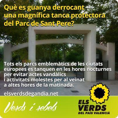 Els Verds manifesten la seua oposició a l'enderrocament de la tanca del Parc de Sant Pere (Alqueria Nova)