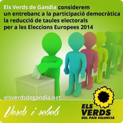 Els Verds consideren un entrebanc a la participació democràtica la reducció de taules electorals per a les Eleccions Europees