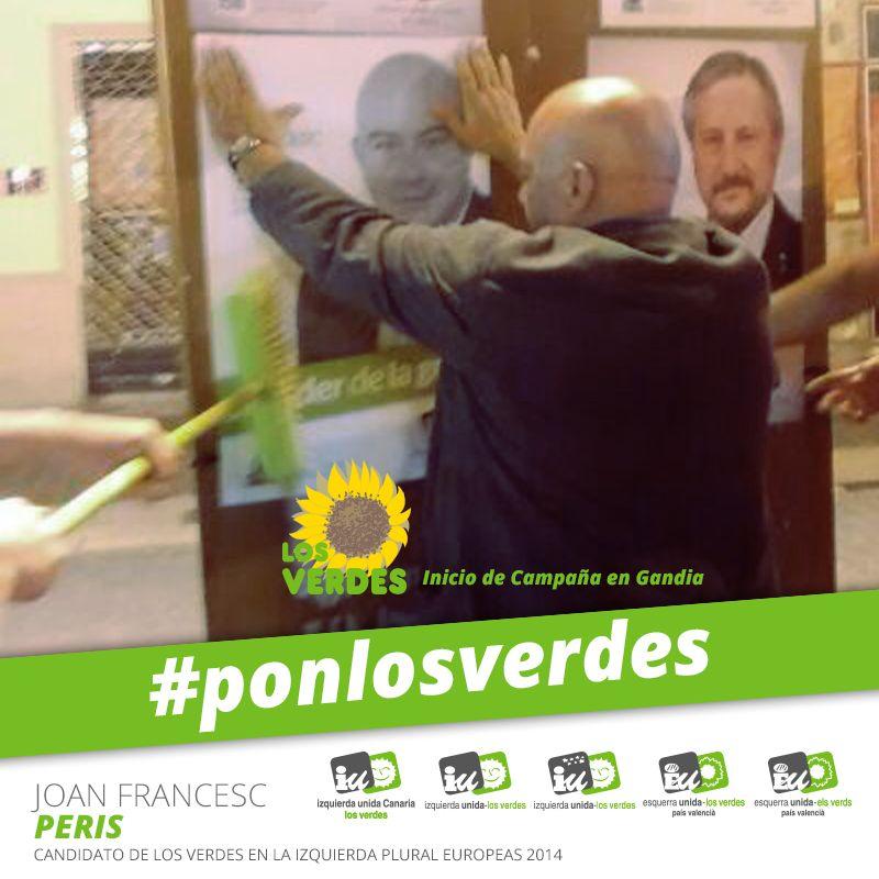 El candidat d'Els Verds en l'Esquerra Plural inicia la Campanya de les Europees 2014 en Gandia