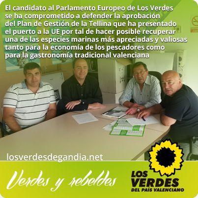 Peris se compromete con la Cofradía de Pescadores de Gandia en la defensa de la pesca artesanal ante de la Unión Europea