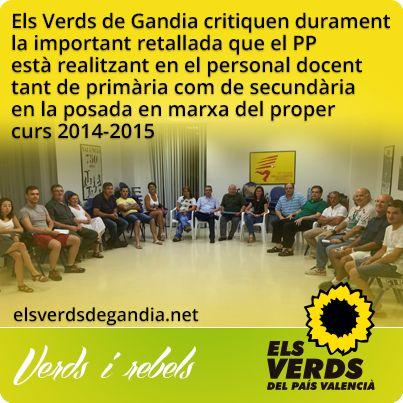 Els Verds de Gandia inicien treballs per a Eleccions Locals 2015