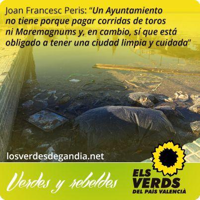 Los Verdes critican la gestión de los servicios básicos medioambientales del Ayuntamiento de Gandia