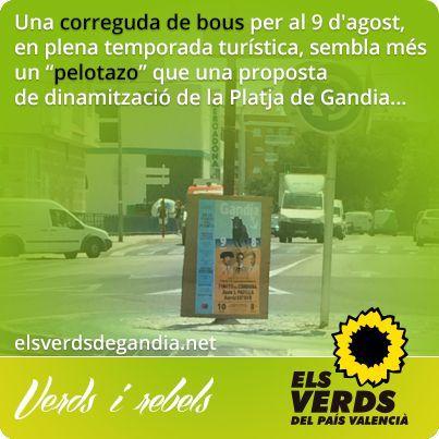 Els Verds rebutgen la promoció protaurina de l'Ajuntament de Gandia i tornen a demanar una consulta popular sobre les corregudes de bous finançades amb diners públics