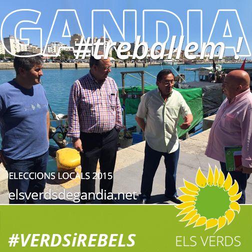 Els Verds visiten la Confraria de Pescadors de Gandia i es reuneixen amb el Consignatari del Port, Artemio Navarro