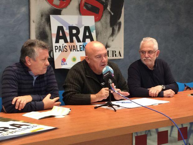 Els candidats al Senat, Peris i Roderic, i al Congrés, Serra, de la coalició «Ara, País Valencià» es comprometen amb l'alliberament del peatge de l'AP-7 i el Tren Gandia-Dénia