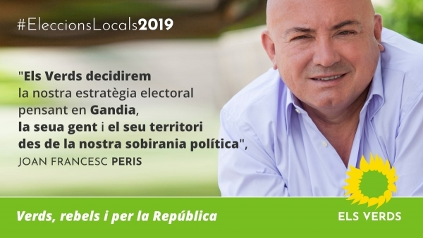 Els Verds decidirem la nostra estratègia electoral pensant en Gandia, la seua gent i el seu territori des de la nostra sobirania política