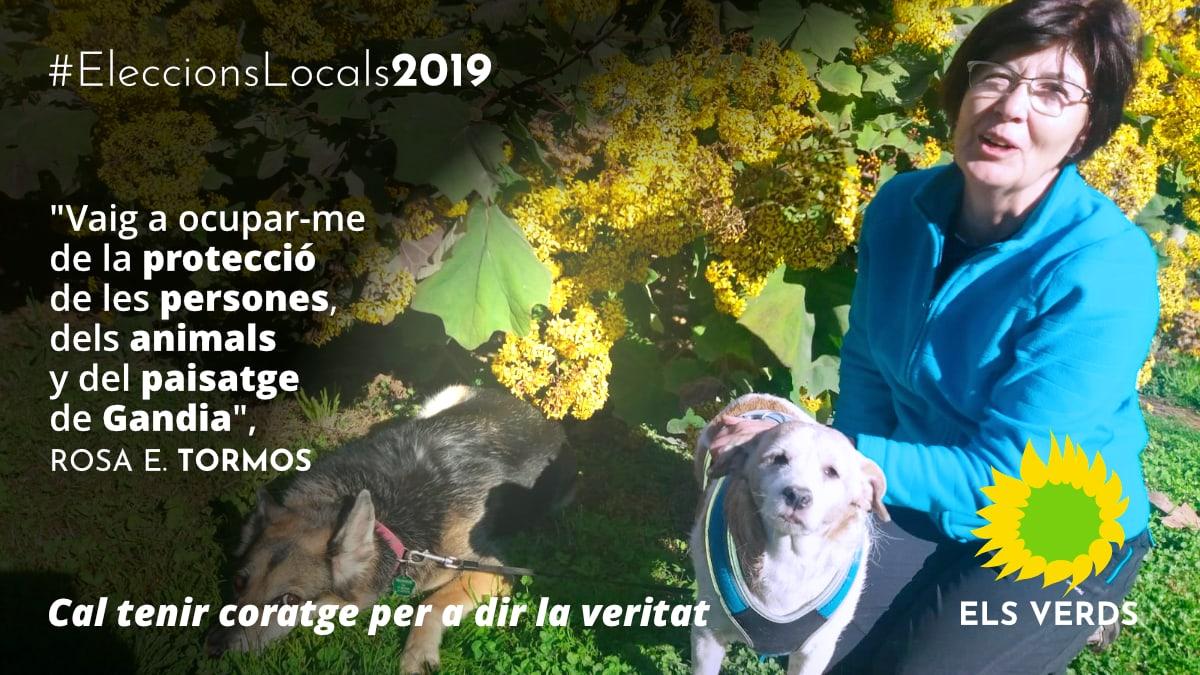 Rosa E. Tormos se suma a la candidatura d'Els Verds per a l'Ajuntament de Gandia