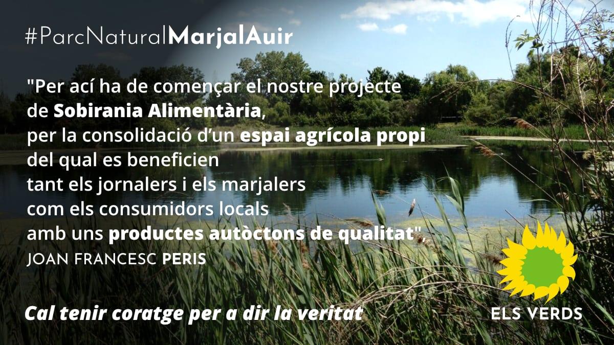 Els Verds presenten el seu projecte de Parc Natural Marjal-Auir per a generar ocupació i augmentar l'oferta ecoturística de Gandia