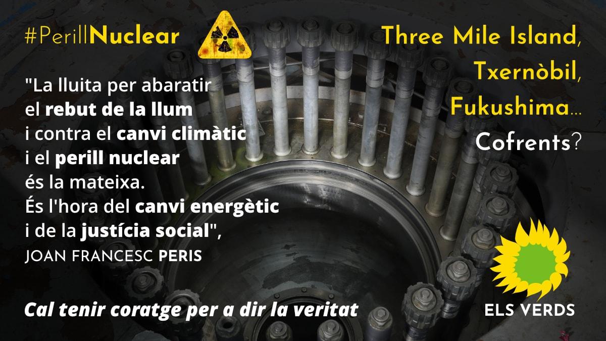 Els Verds sí parlarem del tancament de la Central Nuclear de Cofrents per una política real contra el canvi climàtic