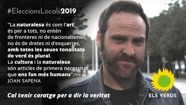 Joan Sapena se suma a la candidatura d'Els Verds per a l'Ajuntament de Gandia