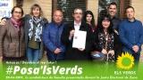 Els Verds de Gandia presenten la seua candidatura davant la Junta Electoral de Zona