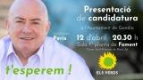 Els Verds de Gandia presenten en els locals de Foment la candidatura per a les eleccions municipals de 26 de maig