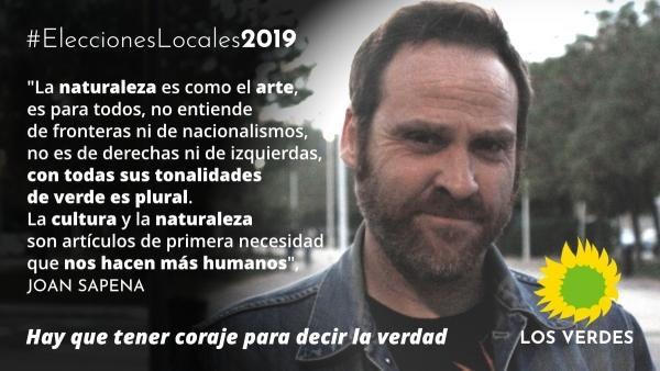 Joan Sapena se suma a la candidatura de Los Verdes para el Ayuntamiento de Gandia