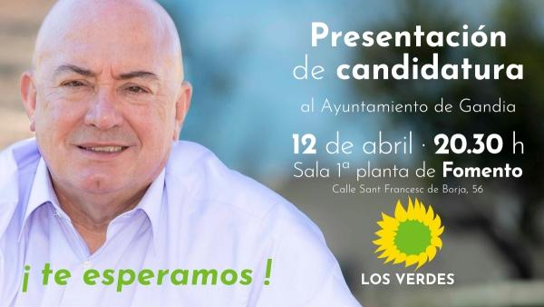 Los Verdes de Gandia presentan en los locales de Fomento la candidatura para las elecciones municipales de 26 de mayo