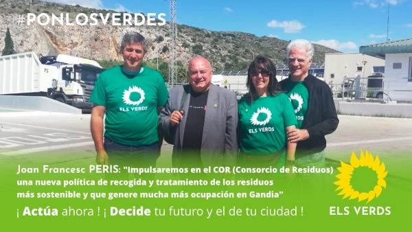 En el Dia Mundial del Reciclatge, la candidatura d'Els Verds visita l'Ecoparc de Gandia i ofereix les seues propostes sobre la gestió de residus del COR
