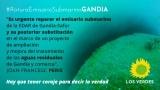 Los Verdes reclaman la urgente reparación del emisario submarino de la EDAR de Gandia-Safor y su posterior substitución en el marco de un proyecto de ampliación y mejora del tratamiento de las aguas residuales de Gandia y comarca