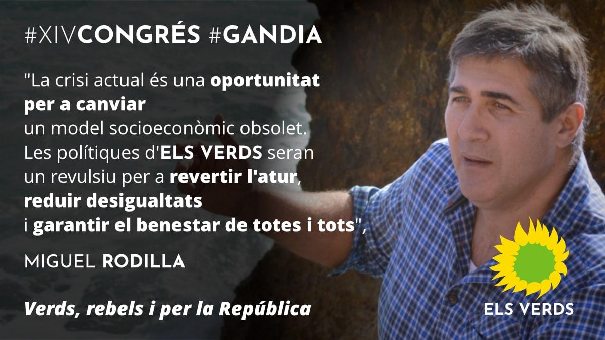 XIV Congrés. Miguel Rodilla, nou Secretari General d'Els Verds de Gandia.